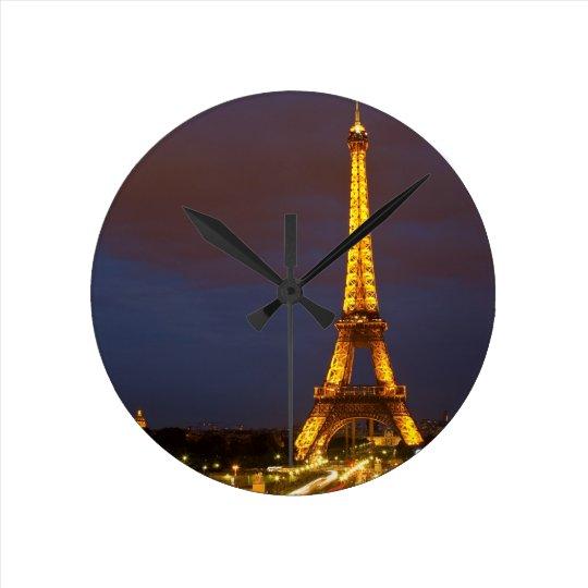 Eiffel Tower Round Clock
