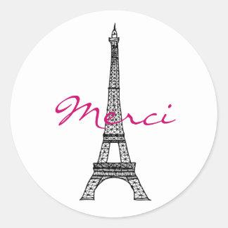 Eiffel Tower Round Sticker
