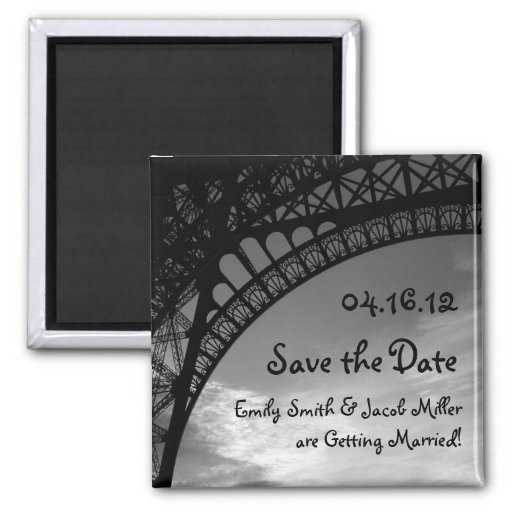 Eiffel Tower Save the Date Magnets
