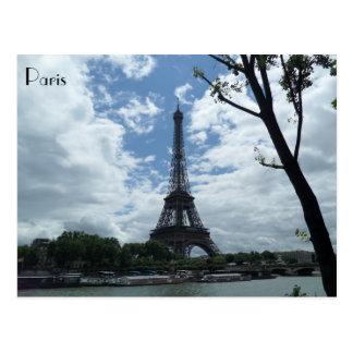 Eiffel Tower Seine River Paris France Monument Postcard