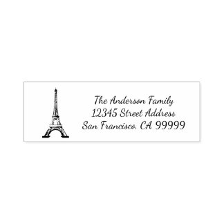 Eiffel Tower - Self Inking Address Stamp