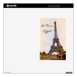 Eiffel Tower Sepia Amazon KIndle Kindle Fire Decal