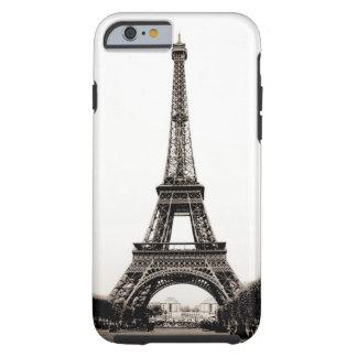 Eiffel Tower Sepia Brown White Tough iPhone 6 Case