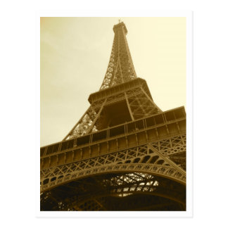 Eiffel Tower Sepia Postcard