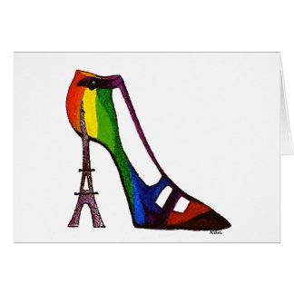 Eiffel Tower Shoe Blank Card