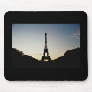Eiffel Tower Silhouette Mouse Pad