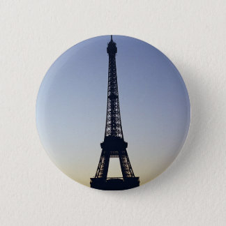 Eiffel Tower Silhouette Pinback Button