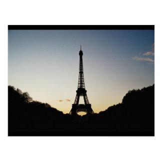 Eiffel Tower Silhouette Postcard