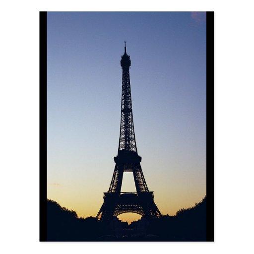 Eiffel Tower Silhouette Postcards