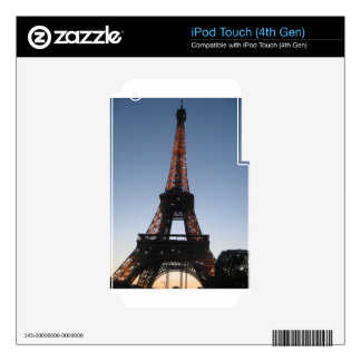 Eiffel Tower Skins For iPod Touch 4G