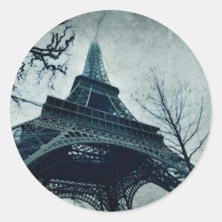 eiffel tower souvenirs classic round sticker