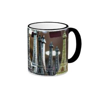 Eiffel Tower Souvenirs Ringer Coffee Mug