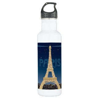 Eiffel Tower Sparkle 24 oz. Water Bottle