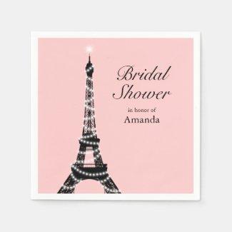 Eiffel Tower Sparkles Napkin