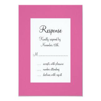 Eiffel Tower Sparkles RSVP (fuchsia) 3.5x5 Paper Invitation Card