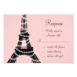 Eiffel Tower Sparkles RSVP (pink) Invites
