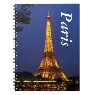Eiffel Tower Spiral Notebooks