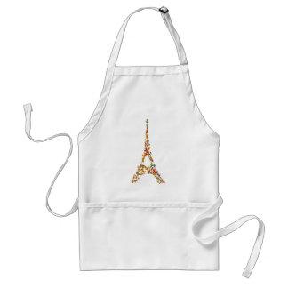 Eiffel Tower splatter painting multicolored Paris Adult Apron