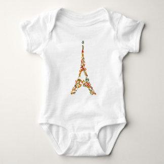 Eiffel Tower splatter painting multicolored Paris Shirts