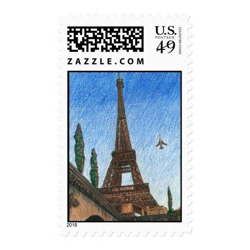 Eiffel Tower Stamp