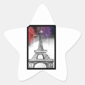 Eiffel Tower Star Sticker