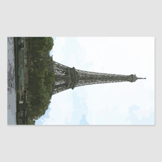 Eiffel Tower Rectangle Stickers