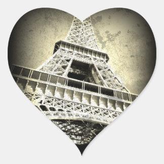 Eiffel Tower Sticker in Bronze, Heart-Shaped
