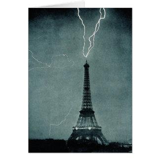 Eiffel Tower struck by lightning Card