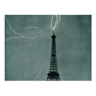 Eiffel Tower Struck Postcard