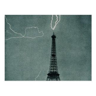 Eiffel Tower Struck Postcard