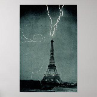 Eiffel Tower Struck Print