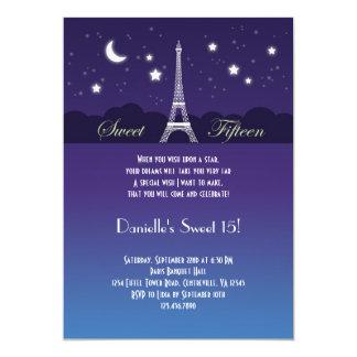 Eiffel Tower Sweet Sixteen Invitation