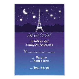 Eiffel Tower Sweet Sixteen RSVP Card Custom Announcement