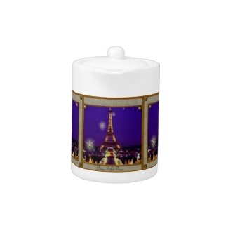 Eiffel Tower Tea Pot teapot