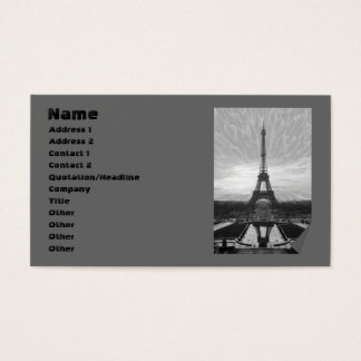 Eiffel Tower, template Business Card