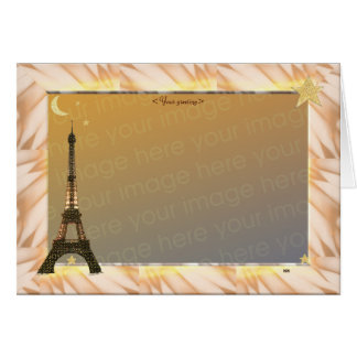 Eiffel Tower, Template Greeting Card