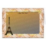 Eiffel Tower Template Greeting Card