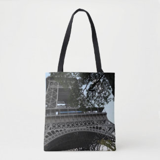 Eiffel Tower Through the Trees Tote Bag