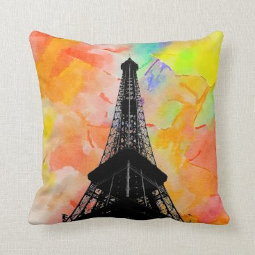 Professional Business Eiffel Tower Throw Pillow