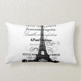 """Eiffel Tower Throw Pillow Lumbar 13"""" x 21"""""""