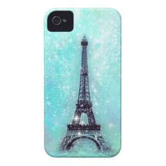 Eiffel Tower Turquoise iPhone 4 Case-Mate Cases