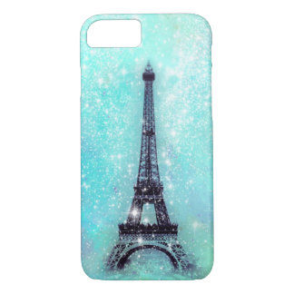Eiffel Tower Turquoise iPhone 8/7 Case