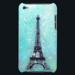 "Eiffel Tower Turquoise iPod Touch Cover<br><div class=""desc"">Design by OS. Copyright &#169; 2012 Organic Saturation</div>"