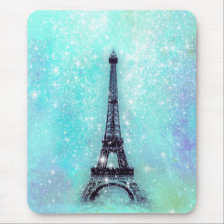 Eiffel Tower Turquoise Mouse Pad