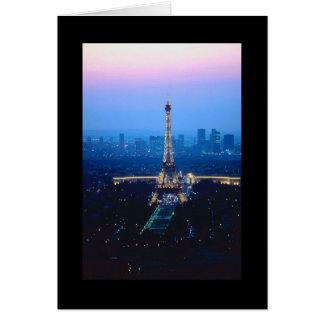 Eiffel Tower Twilight Greeting Card