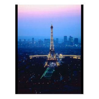 Eiffel Tower Twilight Post Card