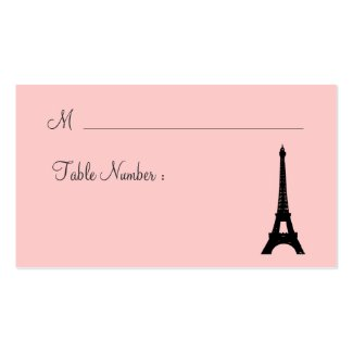 Eiffel Tower Twinkles Place Card pink Business Card