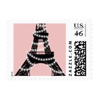 Eiffel Tower Twinkles Stamp (pink)