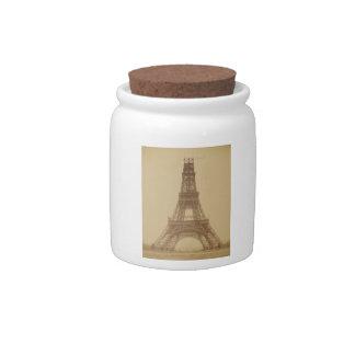 Eiffel Tower Under Construction 1888 Candy Dish