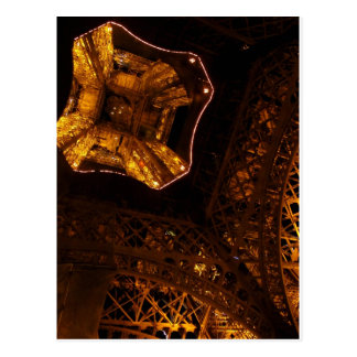 Eiffel Tower - Upskirt at night Postcard